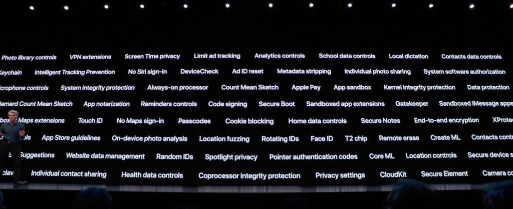 WWDC 2019 — безопасность и конфиденциальность